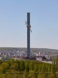 Grúas del monumento en Saratov Fotografía de archivo libre de regalías
