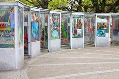 Grúas del papel de Hiroshima Imagenes de archivo