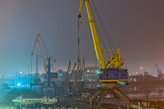 Grúas del puerto Imagen de archivo