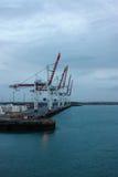 Grúas del puerto Fotografía de archivo libre de regalías