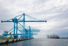 Grúas del puerto de Rotterdam Fotografía de archivo