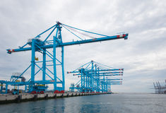 Grúas del puerto de Rotterdam Foto de archivo