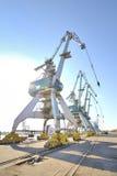 Grúas portuarias Foto de archivo