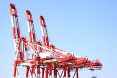 Grúas portuarias del cargo Fotografía de archivo