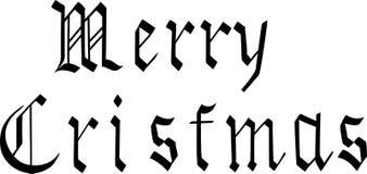 Grüße am bevorstehenden Feiertag von Weihnachten lizenzfreie abbildung