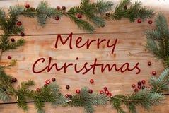 Grüße der frohen Weihnachten Stockbilder