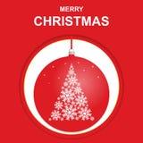 Grüße der frohen Weihnachten, Schablone, Postkarte, Fahne lizenzfreie abbildung
