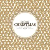 Grüße der frohen Weihnachten und des guten Rutsch ins Neue Jahr stock abbildung