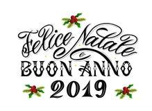 Frohe Weihnachten Und Guten Rutsch Ins Neue Jahr Auf Italienisch