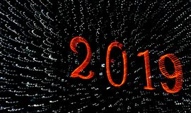 2019 Grüße eines guten Rutsch ins Neue Jahr lizenzfreies stockbild