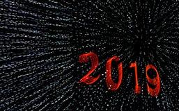 2019 Grüße eines guten Rutsch ins Neue Jahr lizenzfreie stockfotografie