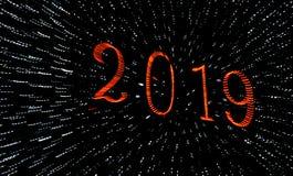 2019 Grüße eines guten Rutsch ins Neue Jahr lizenzfreie stockfotos