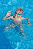 Grüße vom Pool Stockbilder