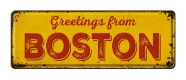 Grüße von Boston lizenzfreie stockbilder