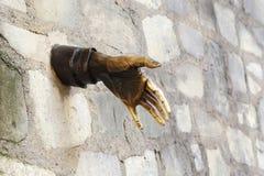Grüße von der Wand Stockfotos