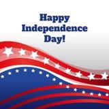 Grüßender abstrakter Hintergrund des glücklichen Unabhängigkeitstags lizenzfreie abbildung