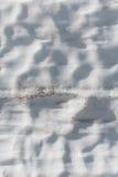 Grübchen im Schnee-Antrieb lizenzfreies stockfoto