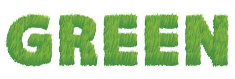 Grün als Gras-Abbildung Stockbild