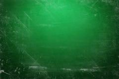 Grün belichtetes Kreidebrett Stockfoto