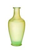 Grün-bereiftes Glas-Vase getrennt Lizenzfreie Stockfotos