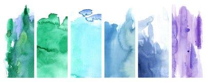 Grün, Blau und Veilchen vektor abbildung