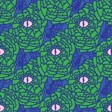 Grün-blaue und rosa Snakeskin-Augen-Grafik lizenzfreie abbildung