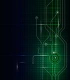 Grün-blauer Hintergrund des abstrakten Technologiestromkreises Vektor Abbildung