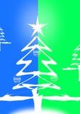 Grün-blauer Weihnachtsbaum stockbild