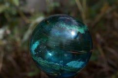 Grün-blaues Glassolarlicht stockbild