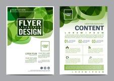 Grün-Broschüren-Plandesignschablone Moderner Hintergrund Jahresbericht-Flieger-Broschürenabdeckung Darstellung Illustration Vekto lizenzfreie abbildung