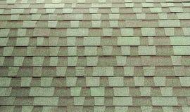 Grün deckte Dach mit Ziegeln Stockbilder