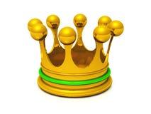 Grün der Krone 3D Gold Stockfotografie