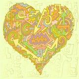Grün der Valentinsgrußpfeilrichtung wave2 Farb stock abbildung
