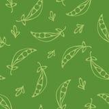 Grün farbige Erbsen lizenzfreie abbildung