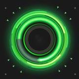 Grün farbiger Leistungsmesser Stockbild
