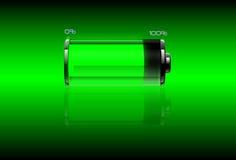 Grün gefüllte Batterie Stockbilder