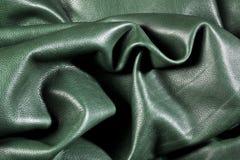 Grün geknittertes Leder Lizenzfreies Stockbild