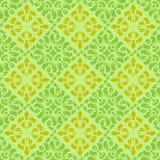 Grün-gelbes Tapetenmuster Lizenzfreie Stockfotos