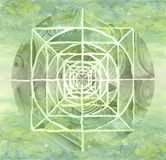 Grün gemalte Mandala Lizenzfreies Stockbild