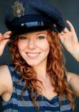 Grün gemustertes Mädchen Lizenzfreie Stockfotografie