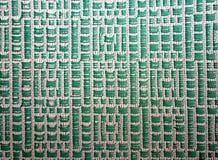 Grün gesticktes Muster Stockbild