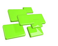 Grün getrennte Vierecke stock abbildung