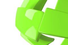 Grün getrennter Viereckshintergrund stock abbildung
