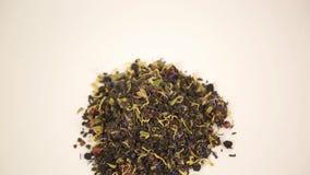 Grün gewürzter Tee stock footage