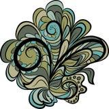 Grün-graues Blumenmuster Lizenzfreies Stockfoto