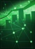 Grün-Hintergrund des Geschäfts-Wachstums-Flieger-A4 Lizenzfreies Stockfoto