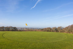 Grün im Golfplatz Lizenzfreie Stockfotografie