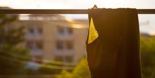 Grün kleiden trocknen Lizenzfreies Stockfoto