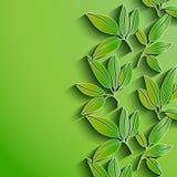 Grün lässt abstrakten Hintergrund Vektor Lizenzfreies Stockbild