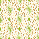 Grün lässt nahtloses Muster Stockfoto